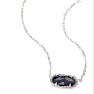 Kendra Scott Elisa Necklace in Black on Silver